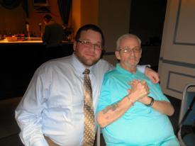 """David """"Keebee"""" Kibler, Sr. & Son Steve Hammerer @ BHFC Banquet"""
