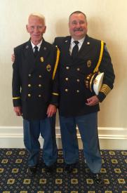 DVFA President Richard T. Perillo &  BHFC Fire Chief Thomas Finocchiaro