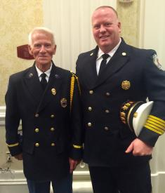 DVFA President Richard T. Perillo &  Christiana Fire Chief Richard J. Perillo