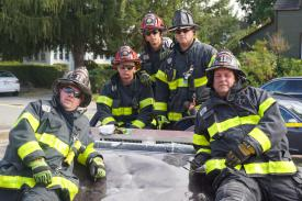 Rescue Crew, Rescue Capt. Fanelli, Lt. DiMauro, Firefighters Tusio, Kirkner & Holley