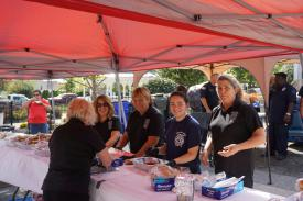 Auxiliary Ladies preparing the hot-dogs
