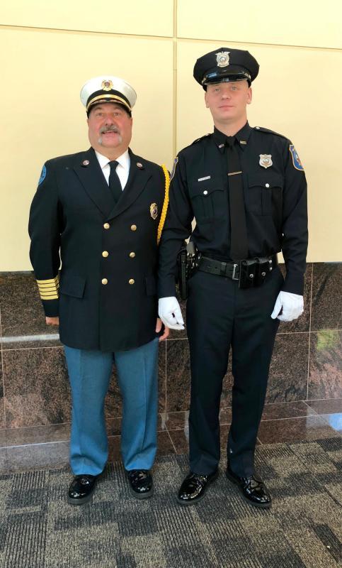 Officer DiMauro & Fire Chief Finocchiaro