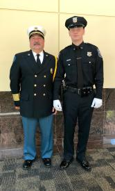 Officer DiMauro & Fire Chief Finocchiaro
