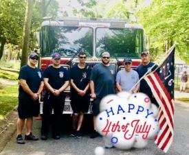 11's Crew Participating in Green Acres 4th of July Parade