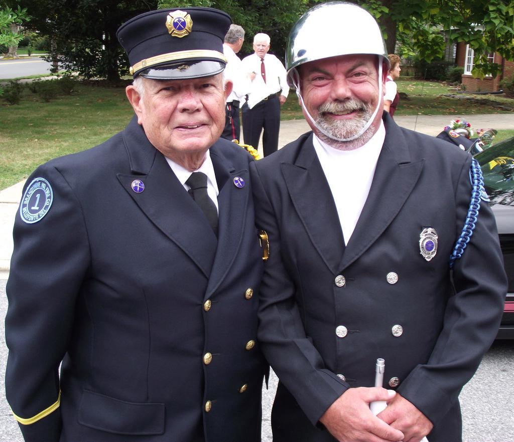 President & Fire Police Emeritus Charles Frampton & son Steve Frampton