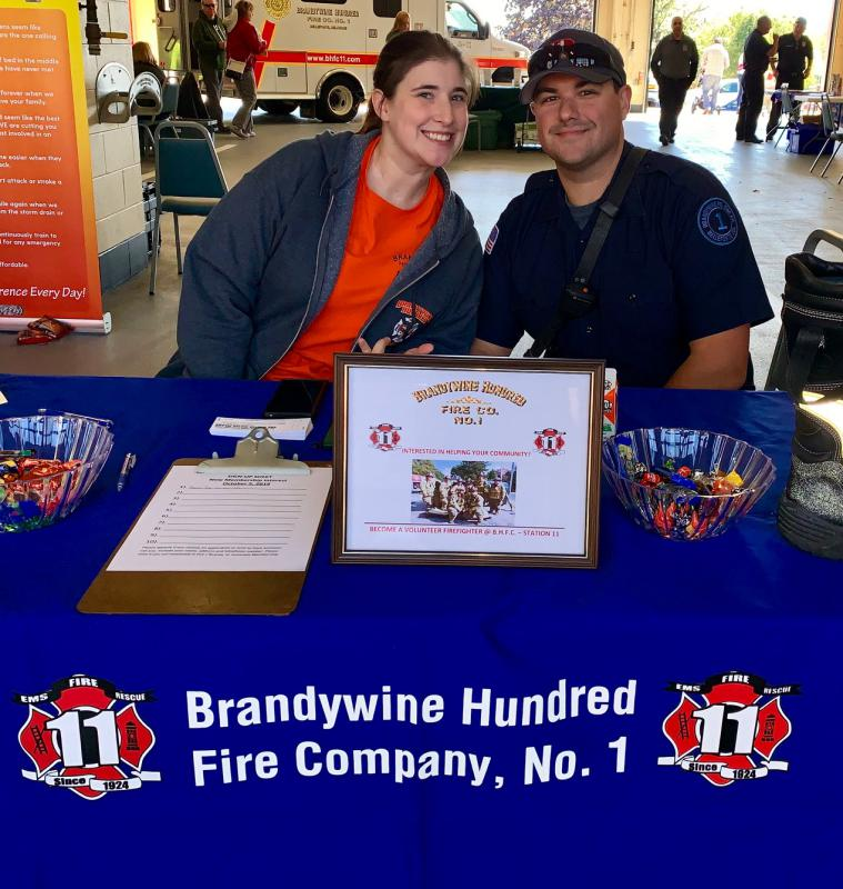 Associate member K. Willette & Firefighter N. Tusio