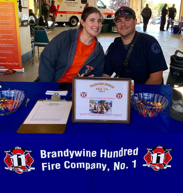 Associate member K. Willette & Firefighter N. Tusio
