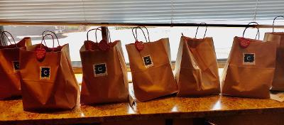 Bag lunches galore from Columbus Inn for the volunteers and EMS Staff at BHFC