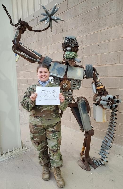 Heather 1/2 way through her deployment.